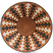 African Basket - Swaziland - Sisal Masterweave Bowl - 11.5 Inches Across - #21492