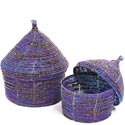 African Basket - Kenya - Set of 2 Nesting Boxes - #43299