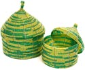 African Basket - Kenya - Set of 2 Nesting Boxes - #43300