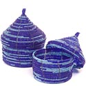 African Basket - Kenya - Set of 2 Nesting Boxes - #48880