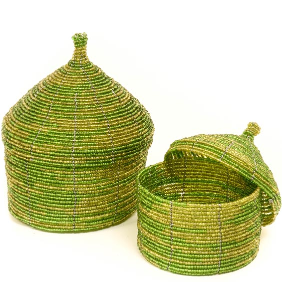 African Basket - Kenya - Set of 2 Nesting Boxes - #49987