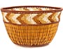 "African Basket - Zulu Copper Beaded Basket - Small Deep Bowl -  4.5"" Across - #50611"