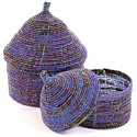 African Basket - Kenya - Set of 2 Nesting Boxes - #54527