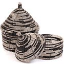 African Basket - Kenya - Set of 2 Nesting Boxes - #60715