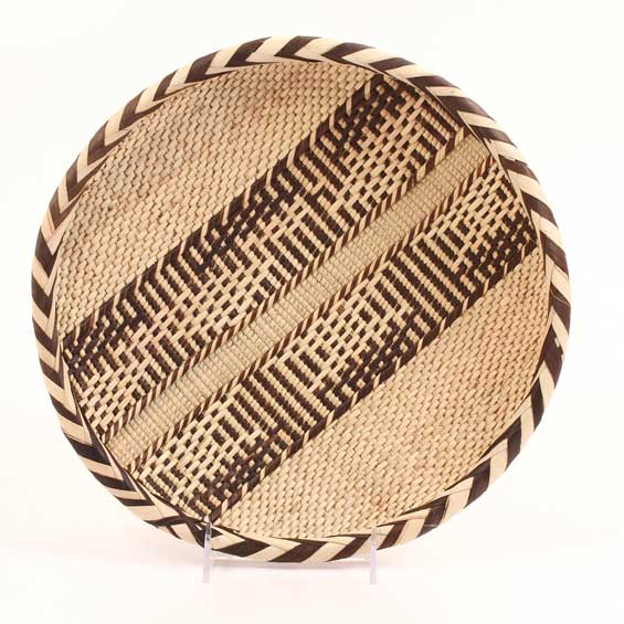"African Basket - Tonga - Gokwe Winnowing Basket - 12"" Across - #62900"