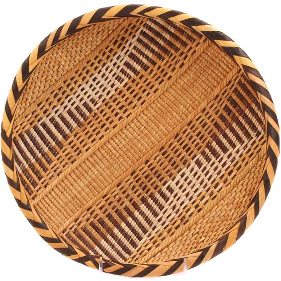 "African Basket - Tonga - Gokwe Winnowing Basket - 12"" Across - #66238"
