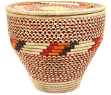 """African Basket - Nubian - Canister - 16"""" Across - #47800"""