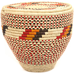 African Basket - Nubian - Canister - 14 Inches Across - #47804