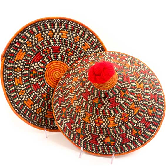 African Basket - Traditional Kuta and Tabaga Set - 14 Inches Across - #52377