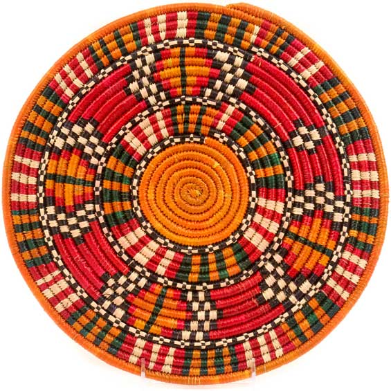 African Basket - Nubian - Tabaga Roundel - 13 Inches Across - #52387