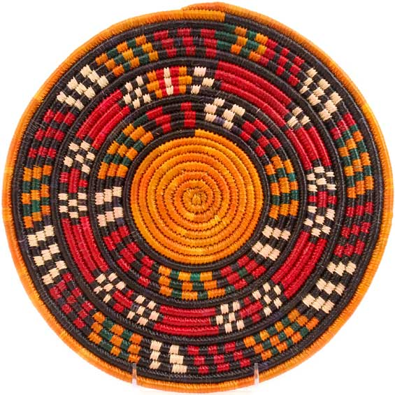 African Basket - Nubian - Tabaga Roundel - 11.75 Inches Across - #52388