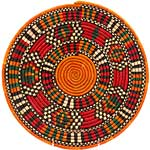 African Basket - Nubian - Tabaga Roundel - 12 Inches Across - #52390