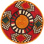 African Basket - Nubian - Tabaga Roundel - 11.5 Inches Across - #52391