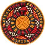 African Basket - Nubian - Tabaga Roundel - 11.5 Inches Across - #52395