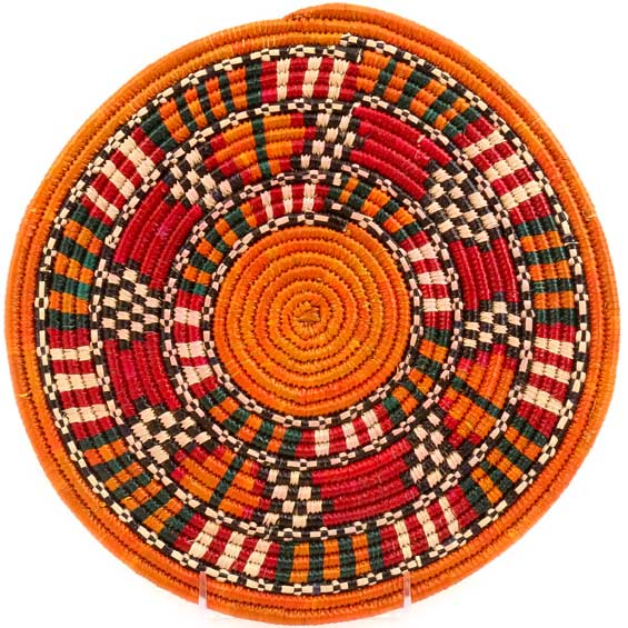 African Basket - Nubian - Tabaga Roundel - 11 Inches Across - #52397