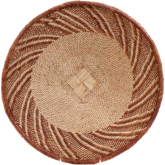 African Basket - Tonga - Zimbabwe Binga Basket - 15 Inches Across - #59883