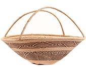 African Basket - Tonga - Zimbabwe Binga Gathering Basket - 22 Inches Across - #62357