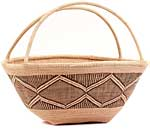 African Basket - Tonga - Zimbabwe Binga Gathering Basket - 17.5 Inches Across - #62363