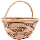 African Basket - Tonga - Zimbabwe Binga Gathering Basket - 13 Inches Across - #62375