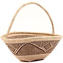 African Basket - Tonga - Zimbabwe Binga Gathering Basket - 12.5 Inches Across - #62384
