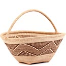 African Basket - Tonga - Zimbabwe Binga Gathering Basket - 14 Inches Across - #62393
