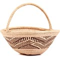 African Basket - Tonga - Zimbabwe Binga Gathering Basket - 11 Inches Across - #62414