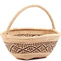 African Basket - Tonga - Zimbabwe Binga Gathering Basket - 10.5 Inches Across - #62417