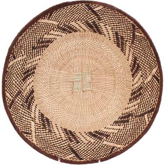 African Basket - Tonga - Zimbabwe Binga Basket - 15 Inches Across - #62977