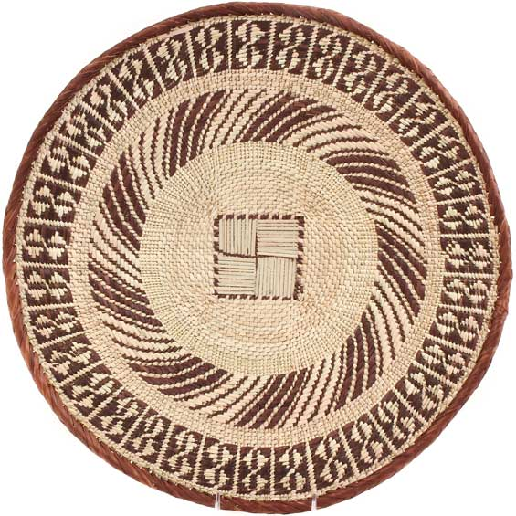 African Basket - Tonga - Zimbabwe Binga Basket - 19.5 Inches Across - #64807
