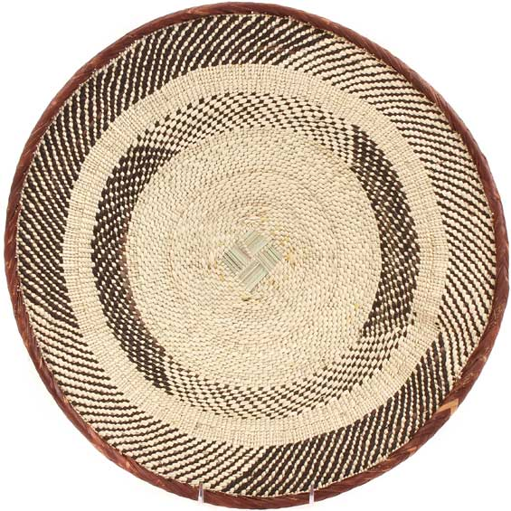 African Basket - Tonga - Zimbabwe Binga Basket - 17 Inches Across - #64815