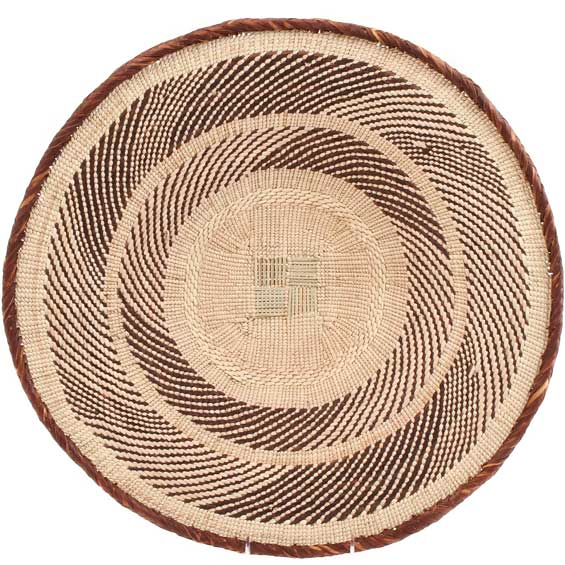 African Basket - Tonga - Zimbabwe Binga Basket - 19.5 Inches Across - #64820