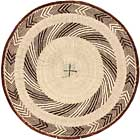 African Basket - Tonga - Zimbabwe Binga Basket - 21.5 Inches Across - #64941