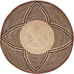 African Basket - Tonga - Zimbabwe Binga Basket - 23.75 Inches Across - #64948