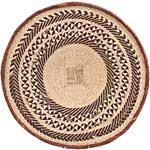African Basket - Tonga - Zimbabwe Binga Basket - 23.5 Inches Across - #64951