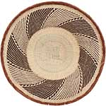 African Basket - Tonga - Zimbabwe Binga Basket - 24 Inches Across - #65172