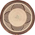 African Basket - Tonga - Zimbabwe Binga Basket - 24 Inches Across - #65174