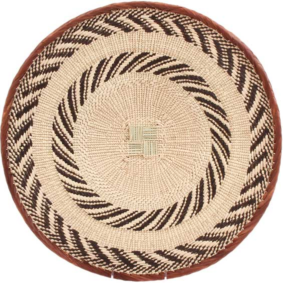 African Basket - Tonga - Zimbabwe Binga Basket - 19.5 Inches Across - #65266