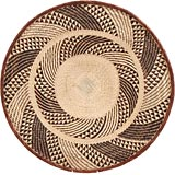 African Basket - Tonga - Zimbabwe Binga Basket - 26 Inches Across - #66910