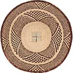 African Basket - Tonga - Zimbabwe Binga Basket - 24.5 Inches Across - #66916