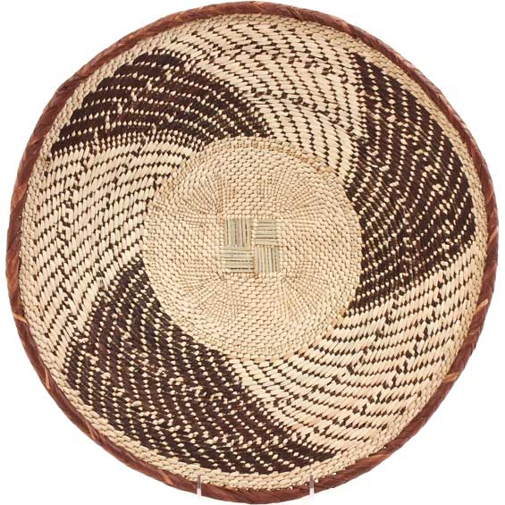 African Basket - Tonga - Zimbabwe Binga Basket - 16.5 Inches Across - #66933