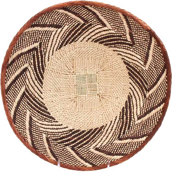 African Basket - Tonga - Zimbabwe Binga Basket - 12.75 Inches Across - #66935