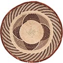 African Basket - Tonga - Zimbabwe Binga Basket - 19.5 Inches Across - #68430