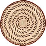 African Basket - Tonga - Zimbabwe Binga Basket - 24.5 Inches Across - #68941