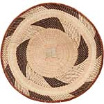 African Basket - Tonga - Zimbabwe Binga Basket - 24.5 Inches Across - #68942