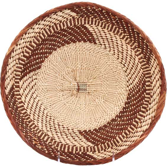 African Basket - Tonga - Zimbabwe Binga Basket - 11.25 Inches Across - #69428