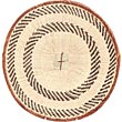African Basket - Tonga - Zimbabwe Binga Basket - 14.5 Inches Across - #71261