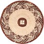 African Basket - Tonga - Zimbabwe Binga Basket - 11.5 Inches Across - #71364