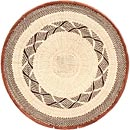 African Basket - Tonga - Zimbabwe Binga Basket - 19.75 Inches Across - #71390
