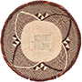 African Basket - Tonga - Zimbabwe Binga Basket - 10.75 Inches Across - #72293