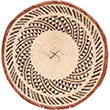 African Basket - Tonga - Zimbabwe Binga Basket - 15 Inches Across - #72380